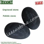 Engraved pebble stone word stones