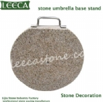 Stone umbrella base stand decoration stone