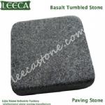 Black basalto tumbled stone cube