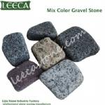 Outdoor broken stone aggregate paver
