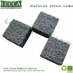 Bush hammered G654 stone cube