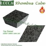 Archaized basalt stone diamond shape cube