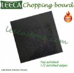 Black chopping block butcher board