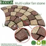Multi-color fan stone porphyry paver