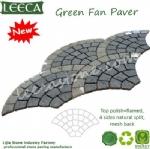 Green porphyry fan stone mesh paver