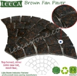 Tan brown granite fan stone paver