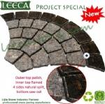 Polished Tan brown stone fan granite