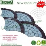 Lashing strip paver stone fan decor