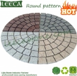 Round pattern paver mesh cobbles Dubai