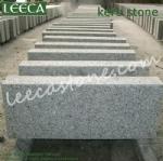 Grey granite kerb stone chamfer edges