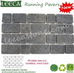 Interlocking lava stone paver