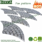Grey granite peacock tail pattern paver