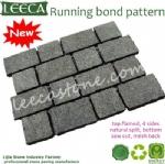 Running bond paver mesh back driveway