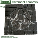 Lava stone pattern fountain paver