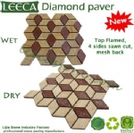 Diamond paver interlocking paving stones