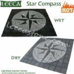 Stone garden star compass pattern