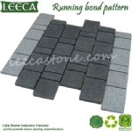 Grey granite running stone garden paver