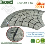 Driveway mesh grey granite natural paving stone