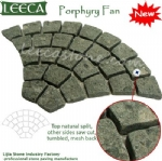 Fan green porphyry carpet stone