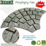 Natural paver for patio paving porphyry fan