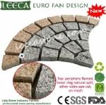Natural split fan paver stones mesh