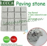 White granite mesh cobblestone paving