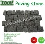 Irregular cobbles mesh paver interlock stone Dubai