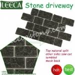 Tumbled basalt stone driveway mats Bahrain paving