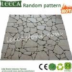 Random pattern paver gabbro stone
