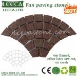 Garden floor stone gabbro block