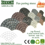 Fan paving stone pattern tiles exterior