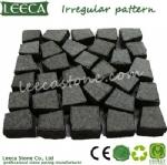 Irregular pattern stones paving basalt paver LEECA Dubai