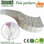Fish pattern paver garden decor stone