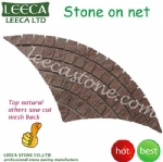 Fan porphyry stone outdoor paving block