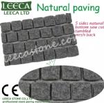 Natural stone mesh driveway paving stones LEECA Qatar