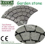 Interlock natural stone black granite paver