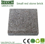 Small natural granite red stone brick