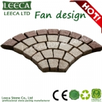 Fan pattern carpet paving stone