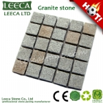Mix color flamed square pattern paving stone