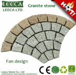 Fish scale flamed granite paving stone