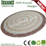 ODM round pattern mesh back paving stone