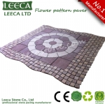 Flower pattern paving stone