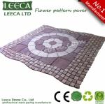 Flower pattern paving stone