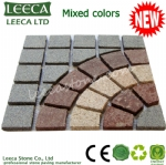 Carpet round pattern paving stone