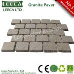 Running bond pattern cobble, driveway cobblestone, granite paver