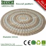 Round circle pattern sheet paving stone