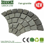 Fan granite paving stone mat