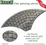 Wholesale paving stones on net, fan shape cobble stone