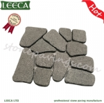 Dark grey granite patio paver flamed paving stone