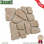 Yellow granite paving mesh cobblestone pavers